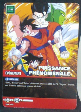 carte dragon ball z Super Cartes À Jouer Et À Collectionner Part 4 n°DB-701 (2010) songoku songohan songoten piccolo vegeta trunks bandai cardamehdz