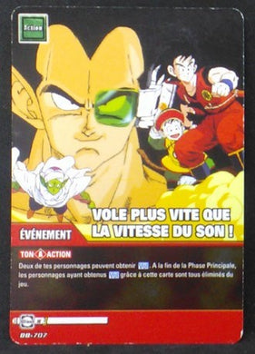 carte dragon ball z Super Cartes À Jouer Et À Collectionner Part 4 n°DB-707 (2010) songoku songohan piccolo radditz bandai cardamehdz