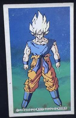 carte dragon ball z menko 12 songoku dbz cardamehdz
