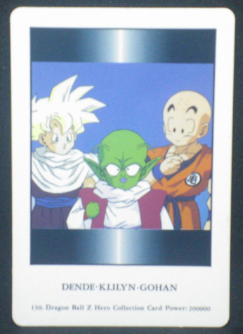 carte dragon ball z hero collection part 1 n°130 songohan krilin dendé