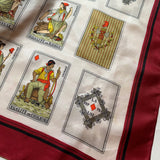 JACQUES ESTEREL Silk French Revolution Cards Novelty Silk Print Scarf