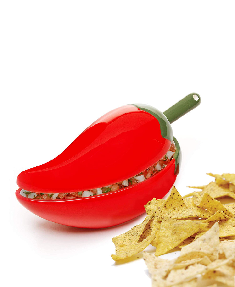 Progressive Salsa Bowl With Spoon - Red