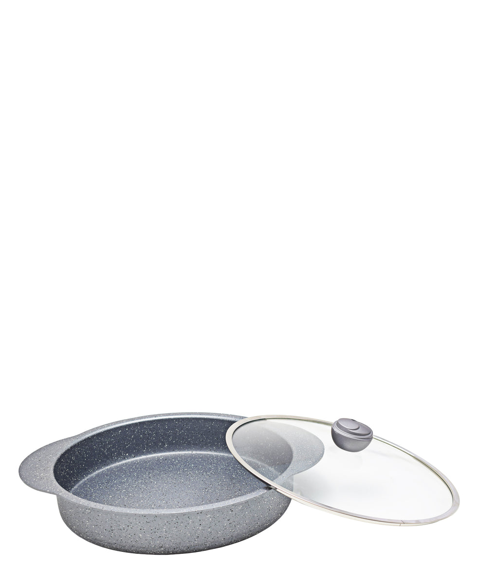 OMS 32cm Shallow Oven Casserole - Grey