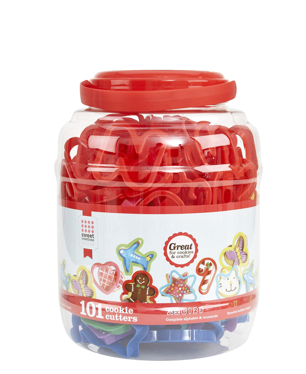 Eetrite 101 Piece Cookie Cutter Tub - Red