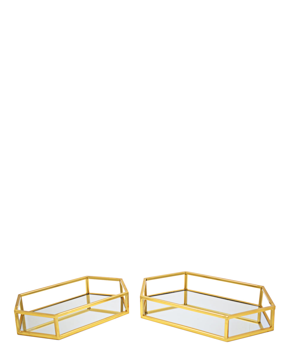 Softyhome 2 Piece Tray - Gold