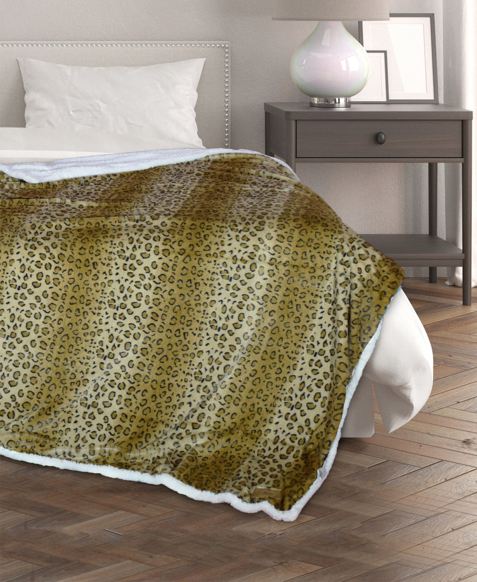 Pierre Cardin Bed Throw - Gold
