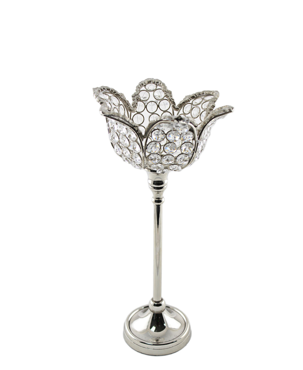 Majestic Candle Holder Tulip Shaped - Silver