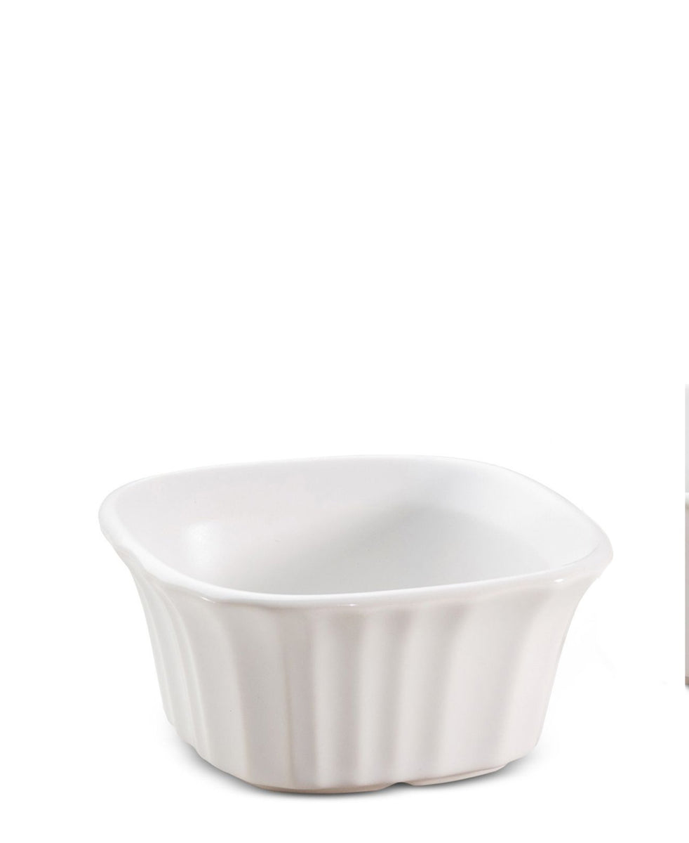 Corningware French White Square Ramekin 2pc - White