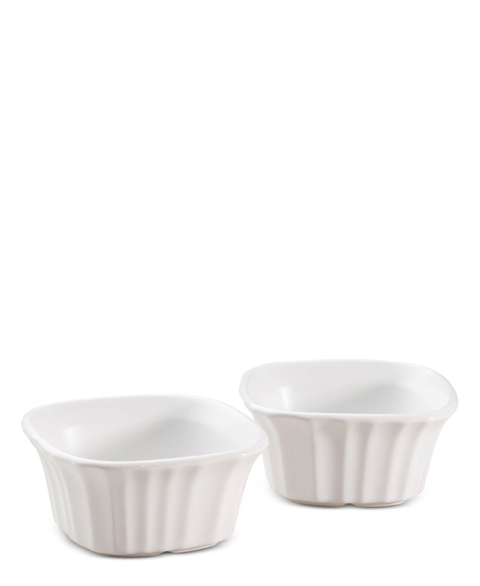 Corningware French White Square Ramekin 4pc - White