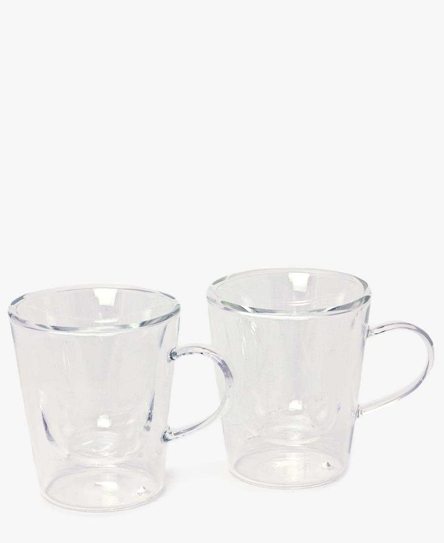 2 Pack Double Espresso Cups - Clear