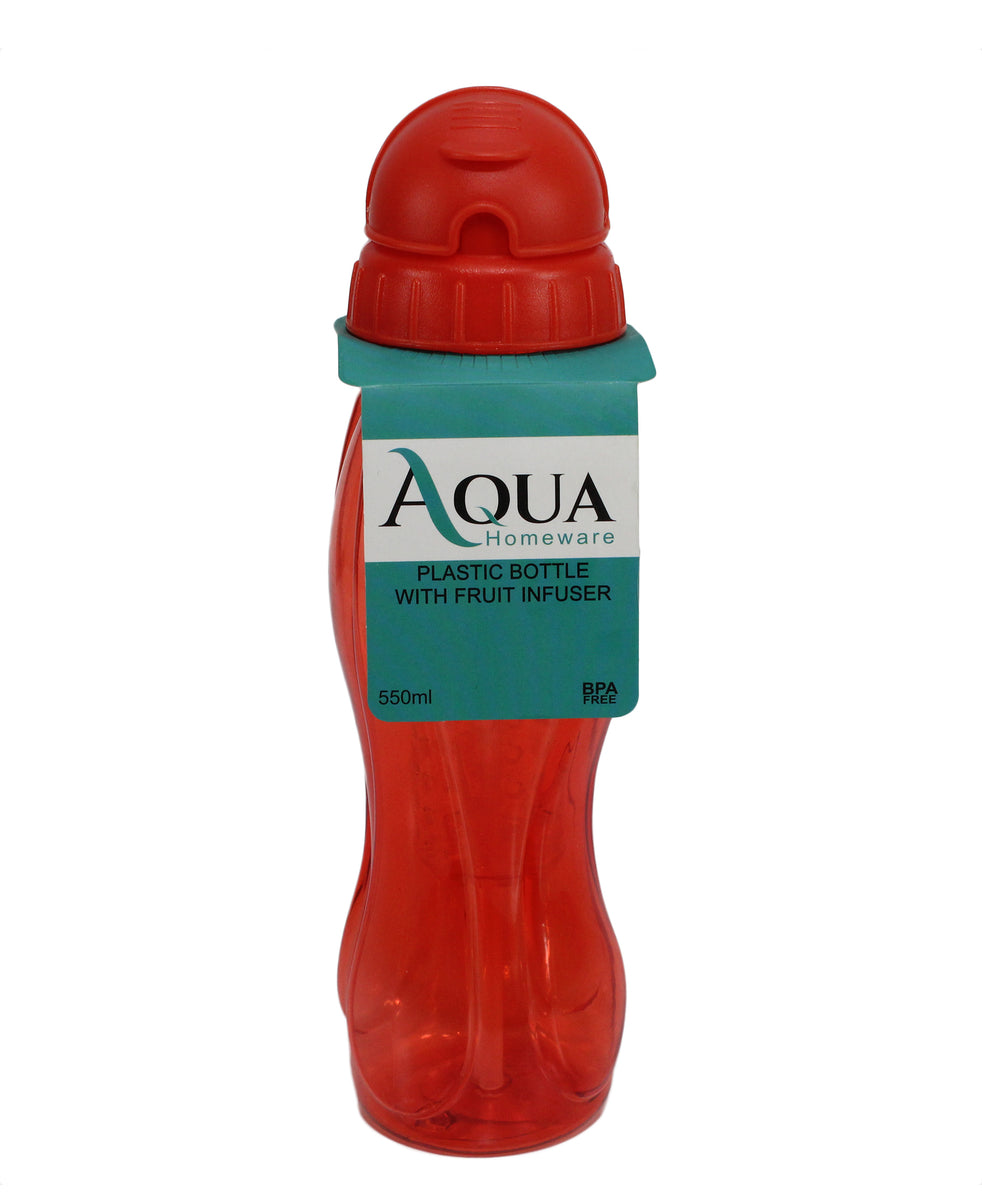 Auqa Water Bottle With Friut Infuser - Red