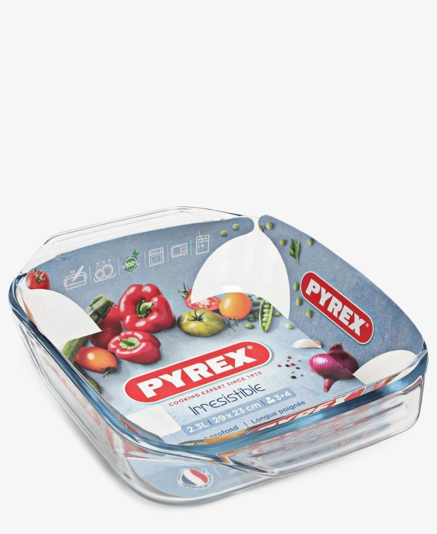 Pyrex 29X23 Square Roaster - Clear
