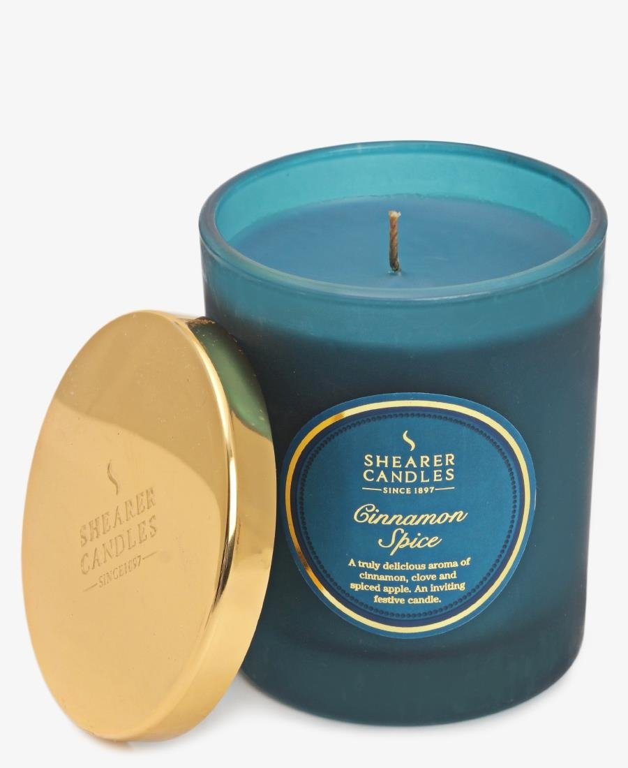 Shearer Candles - Cinnamon Spice Jar - Teal