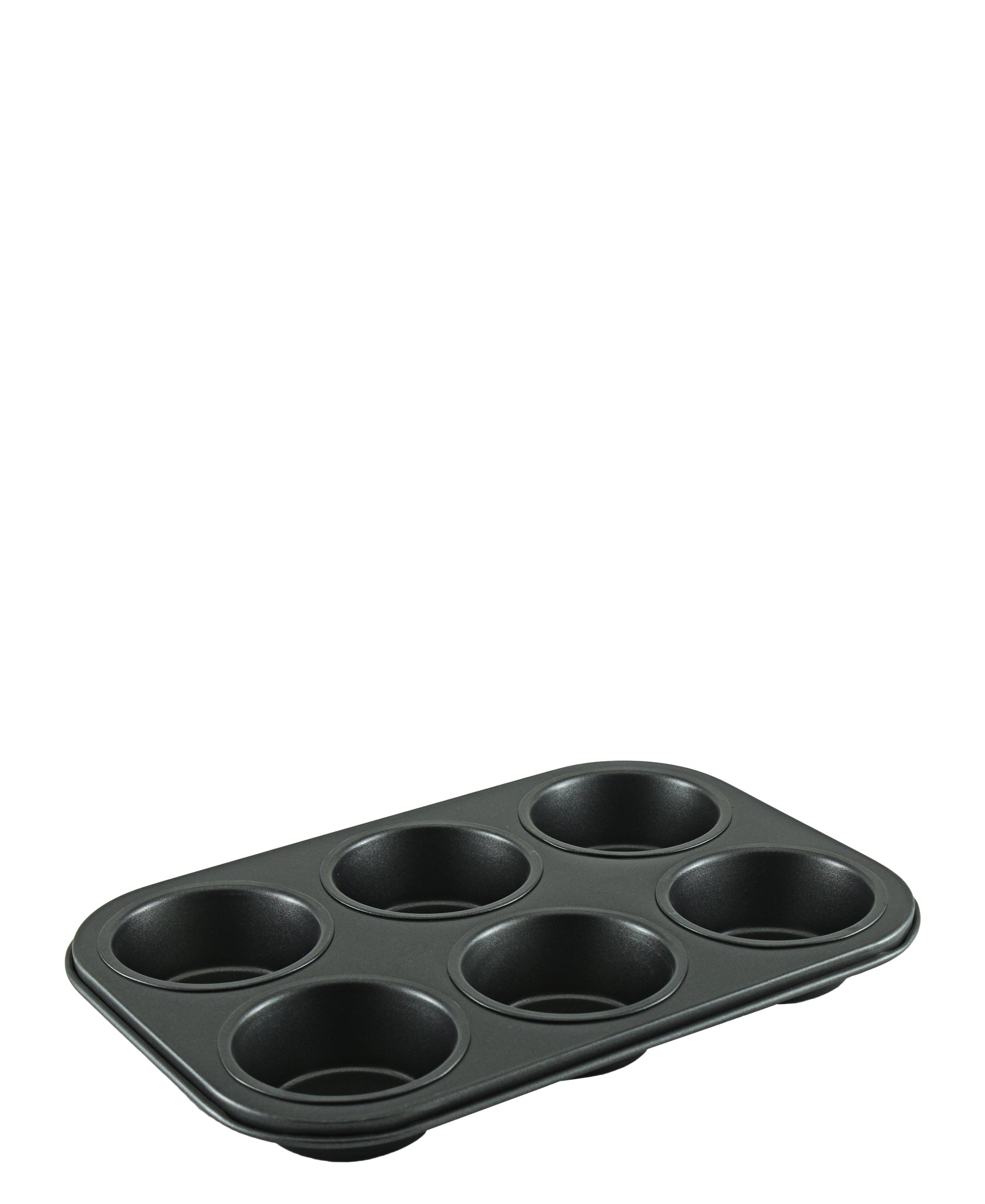 Metalix 6 Cup Muffin Pan - Black