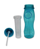 Aqua Water Bottle With Fruit Infuser - Blue