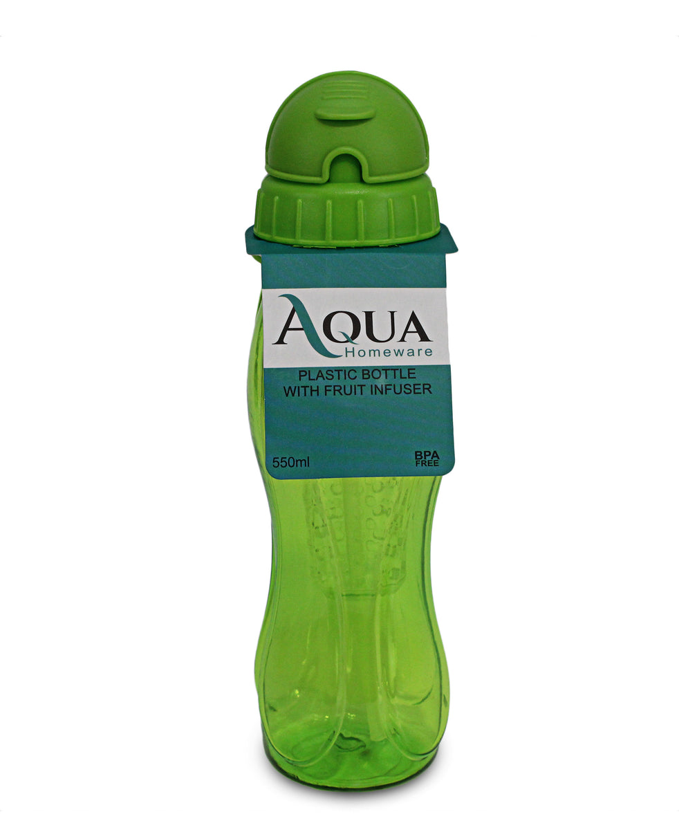 Aqua Water Bottle With Fruit Infuser - Green