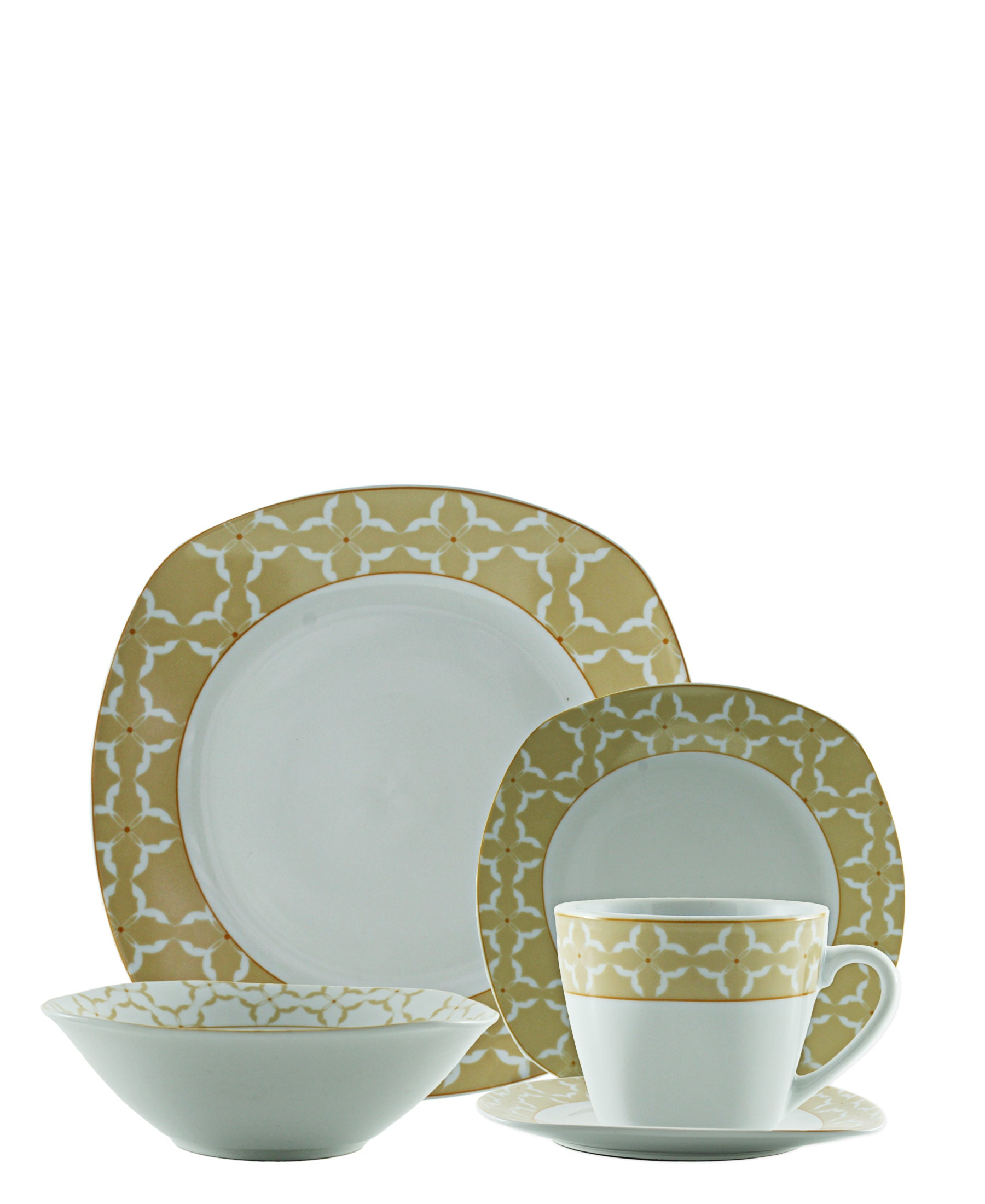 Casa Modeina Dinner Set 20 Piece - Beige