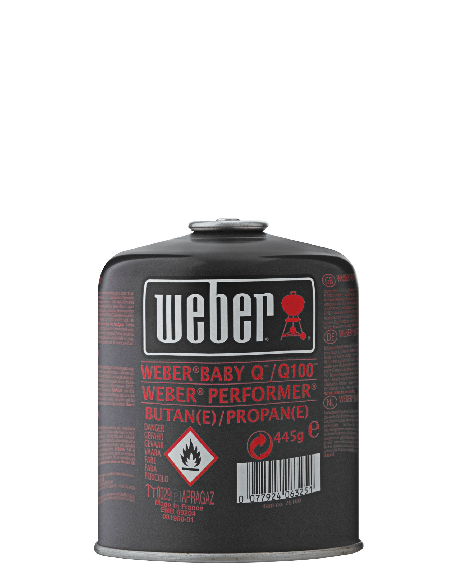 Weber Gas Cartridge - Black