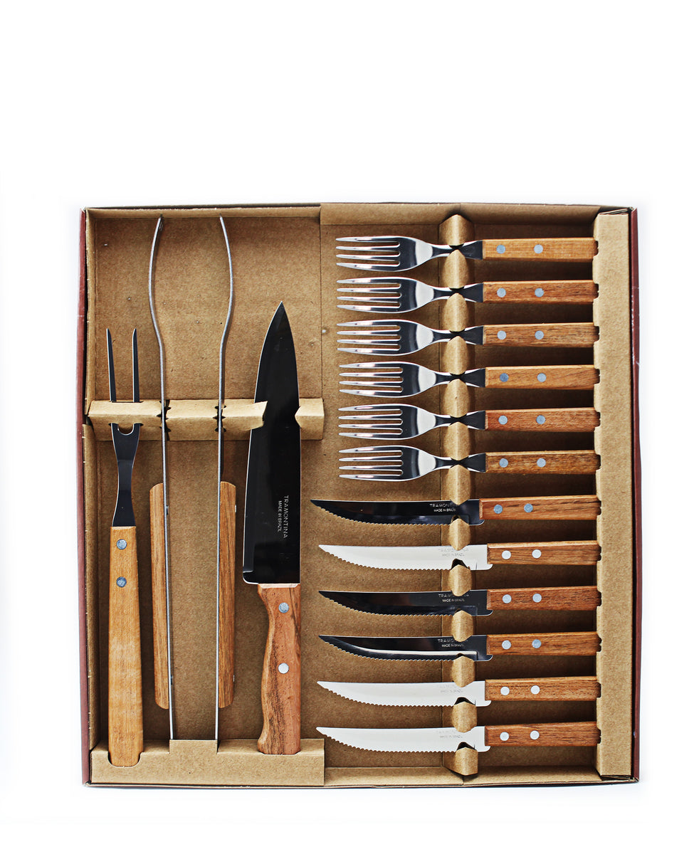 Tramontina Barberque Set 15 Piece - Brown