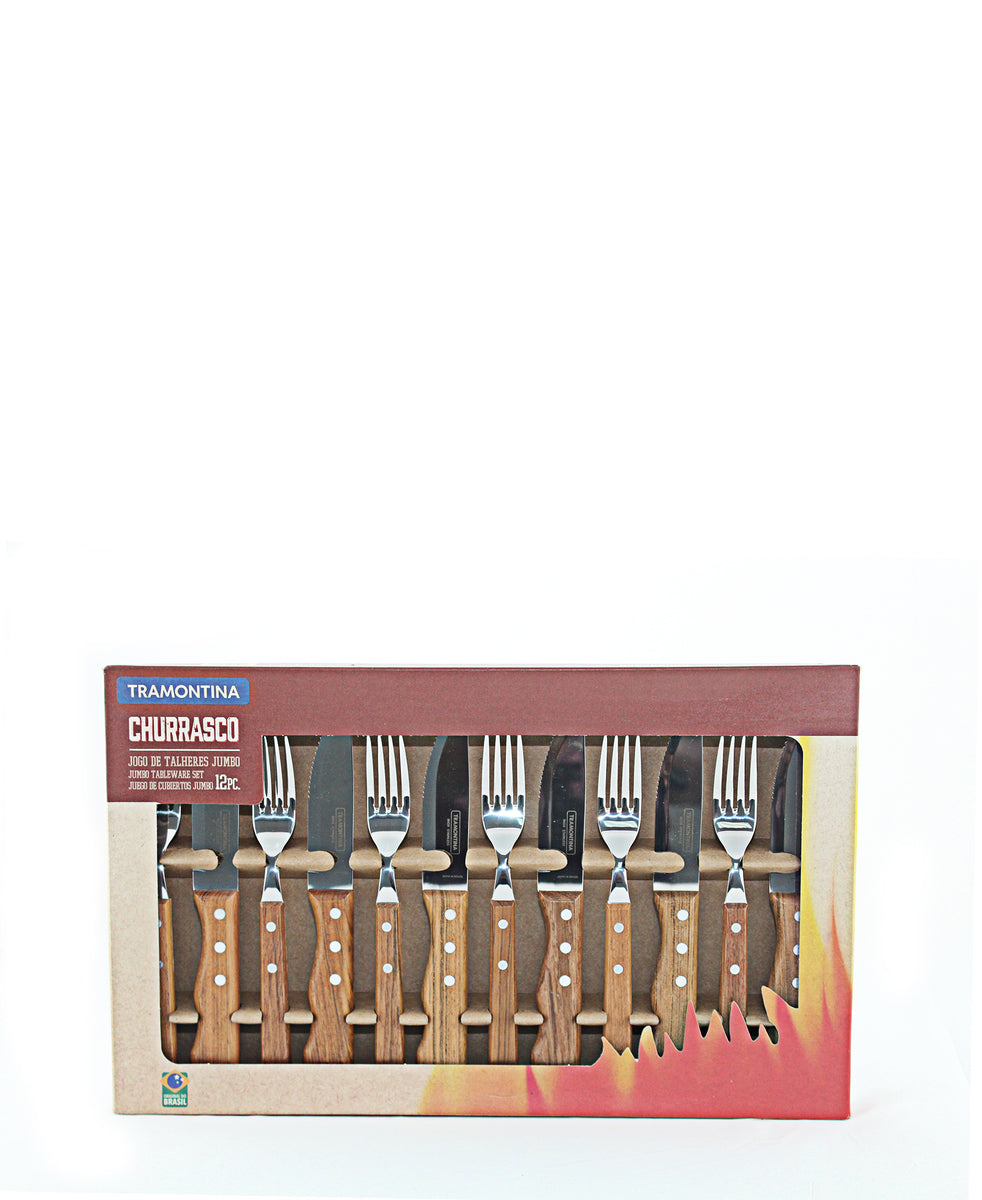 Tramontina Barbeque Set 12 Piece - Brown