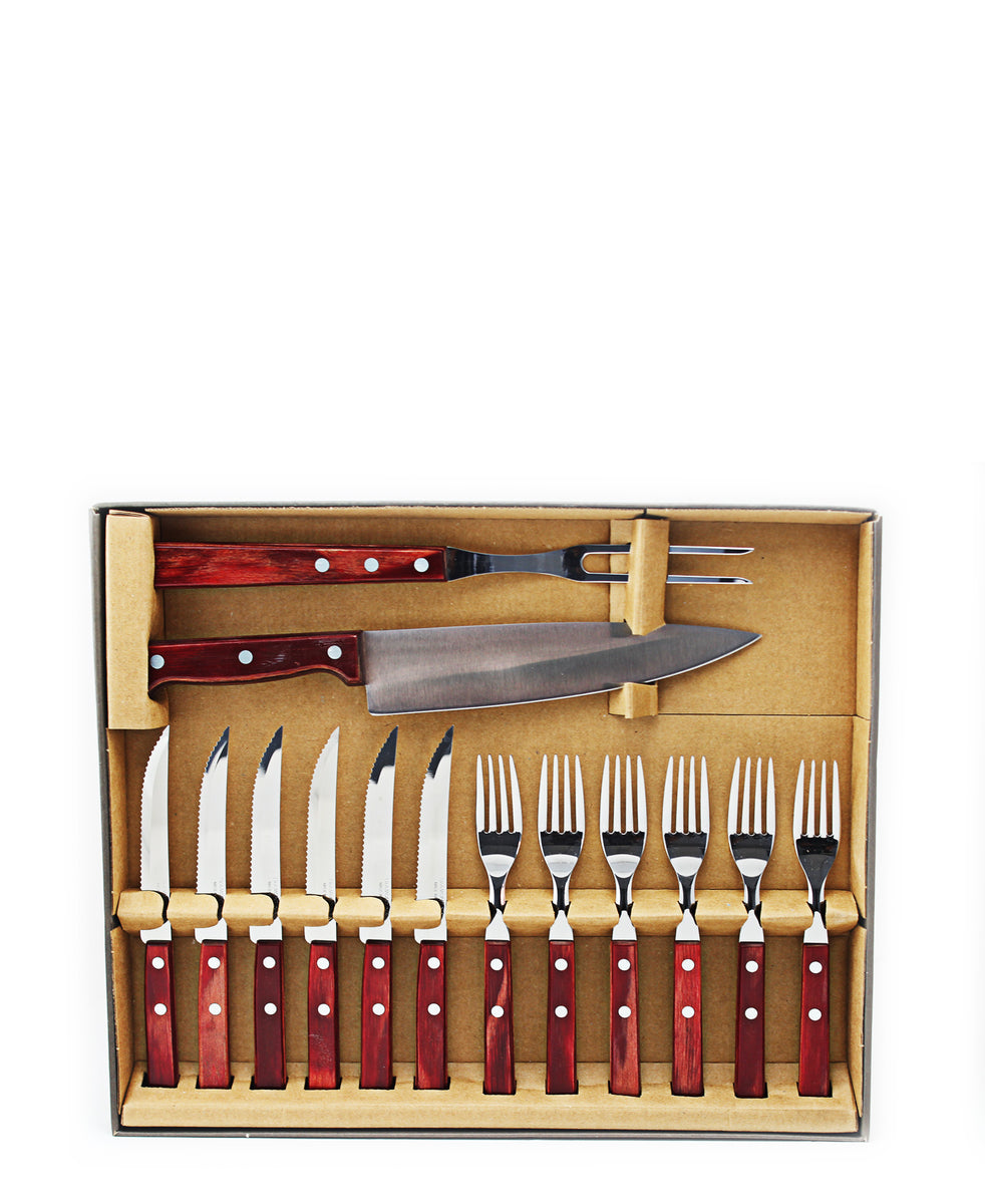 Tramontina Barberque Set 14 Piece - Red