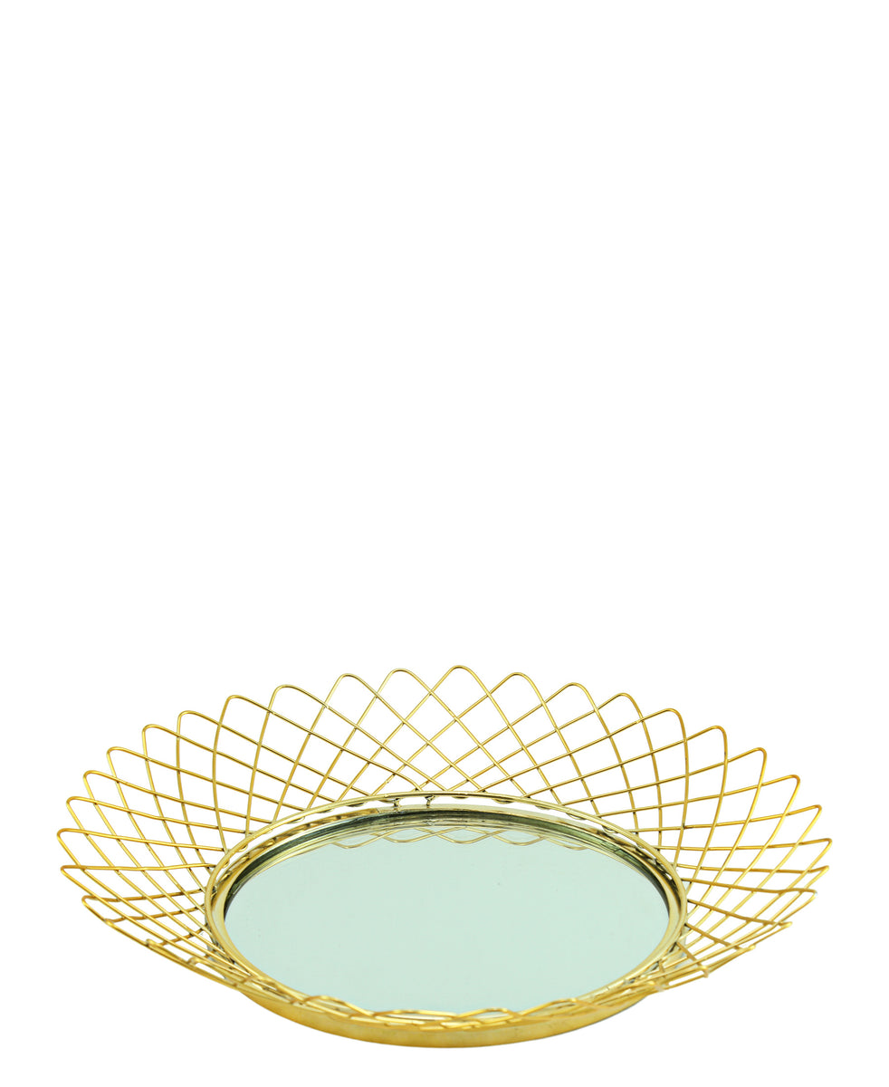Spiral Tray Large - Gold