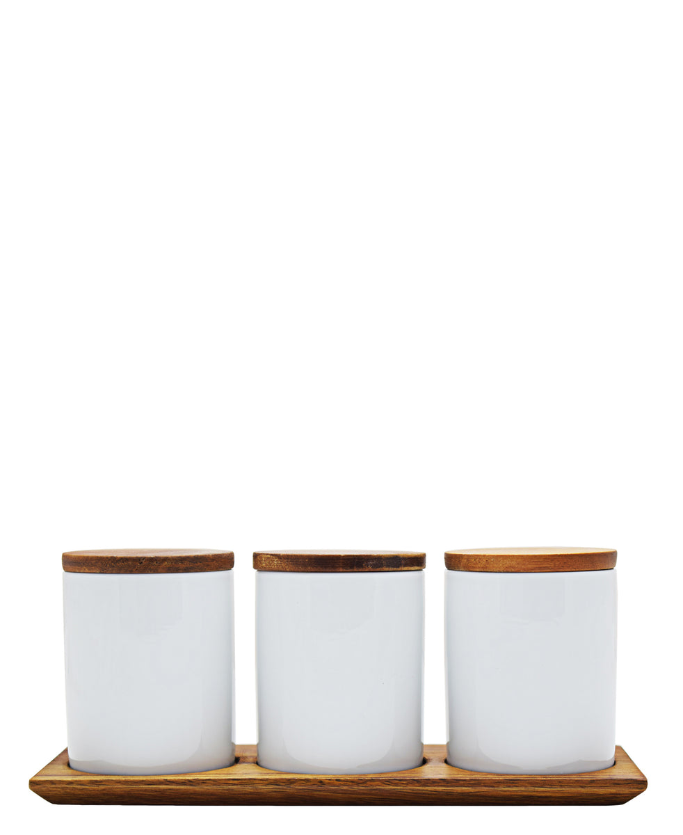Eetrite 4 Piece Jar Set - White