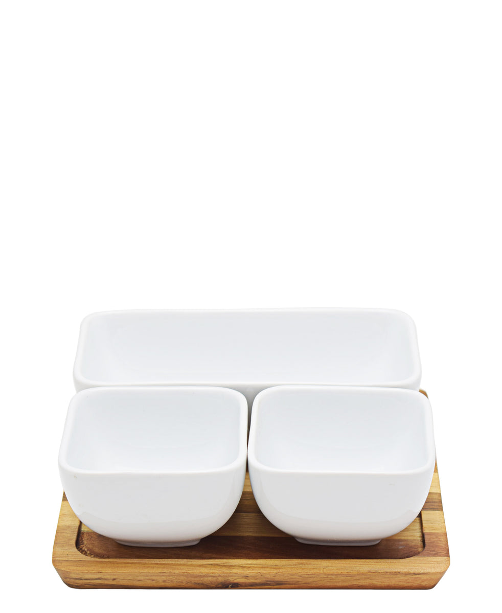 Eetrite Condiment Serving Set - White