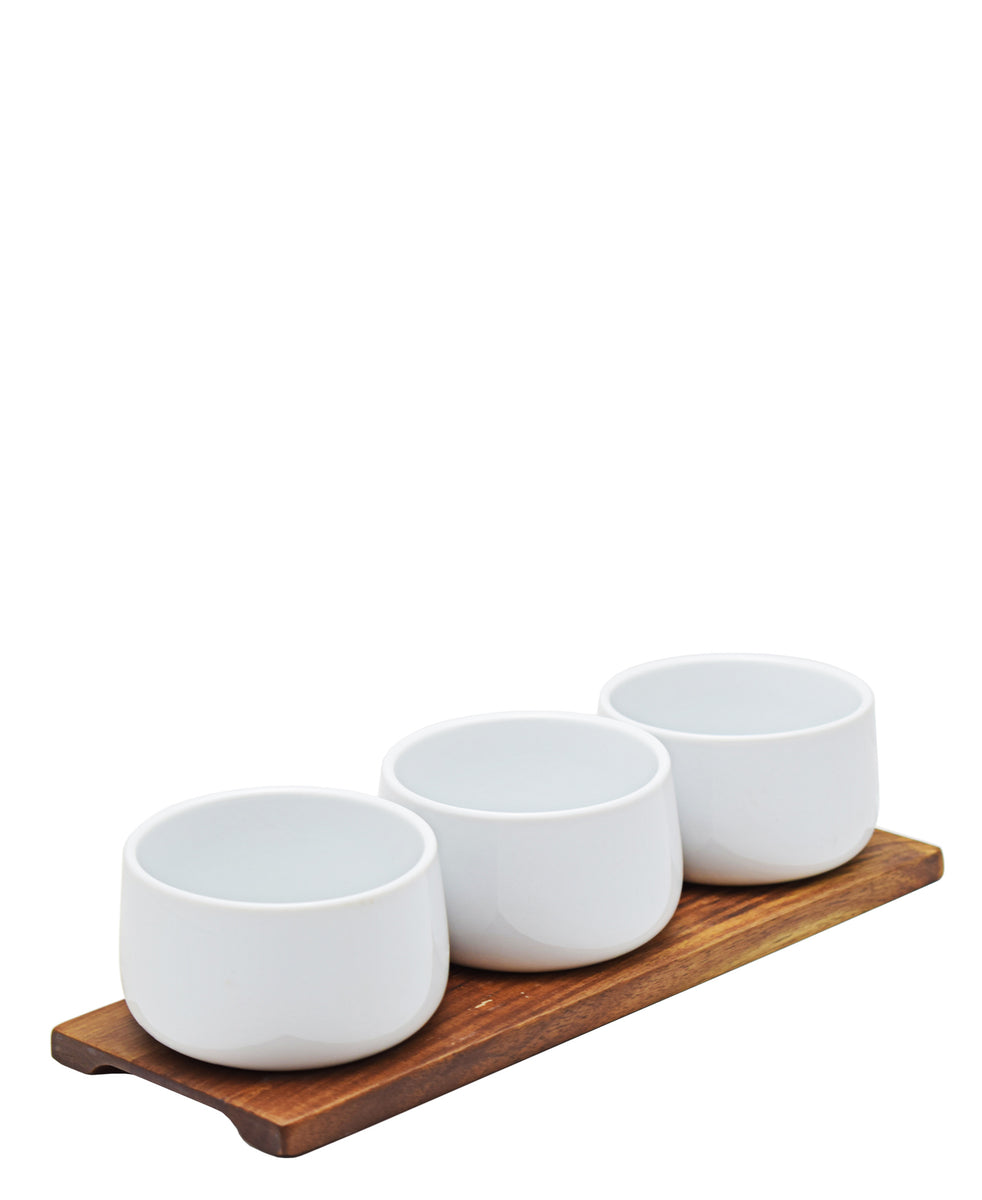 Eetrite 4 Piece Mini Bowl Set - White