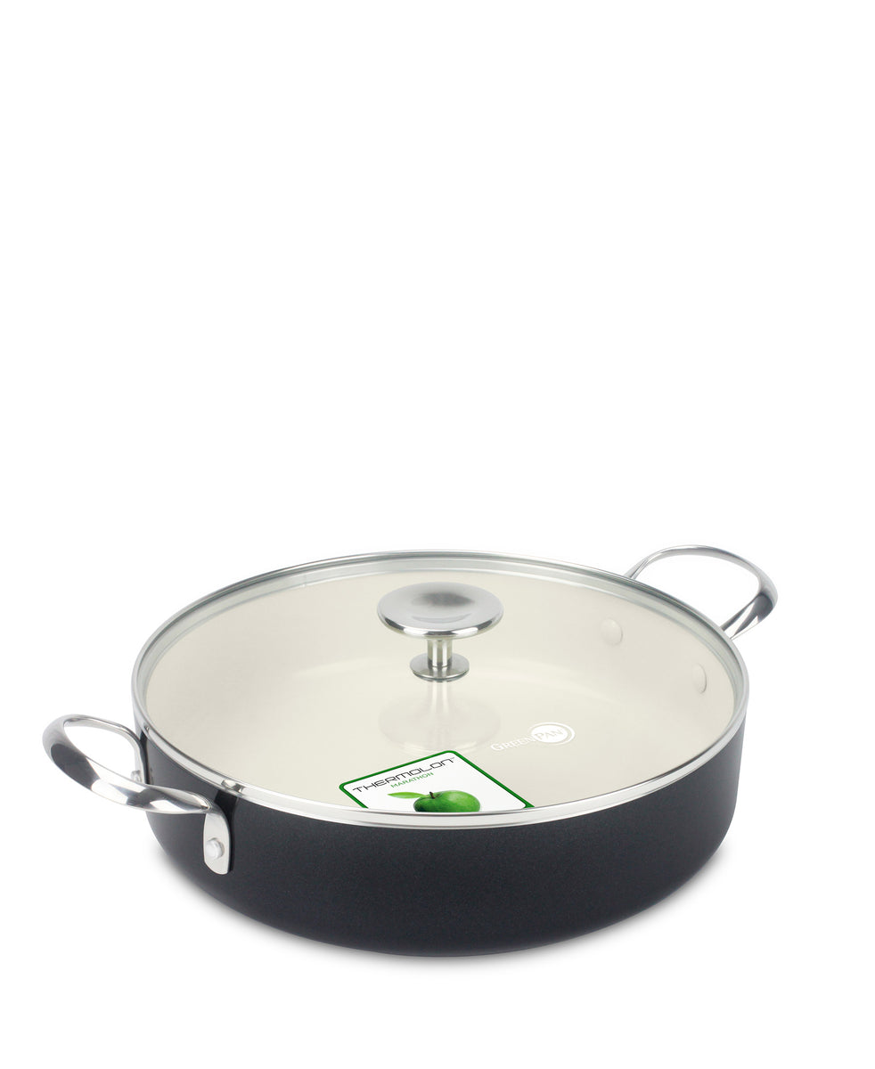 GreenPan Brussels Saute Pan 28 CM - Black