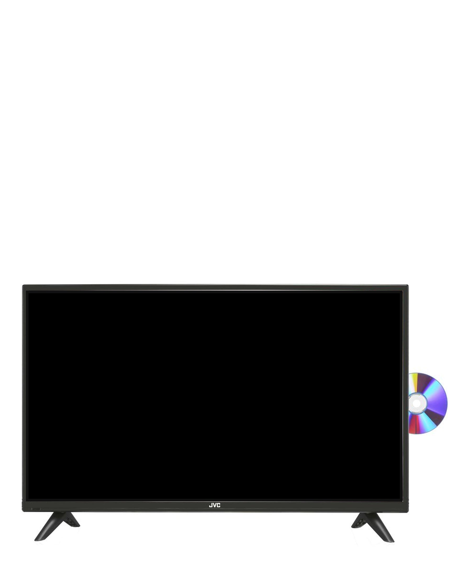 JVC 32'' HD LED TV With Built - in DVD Player - Black