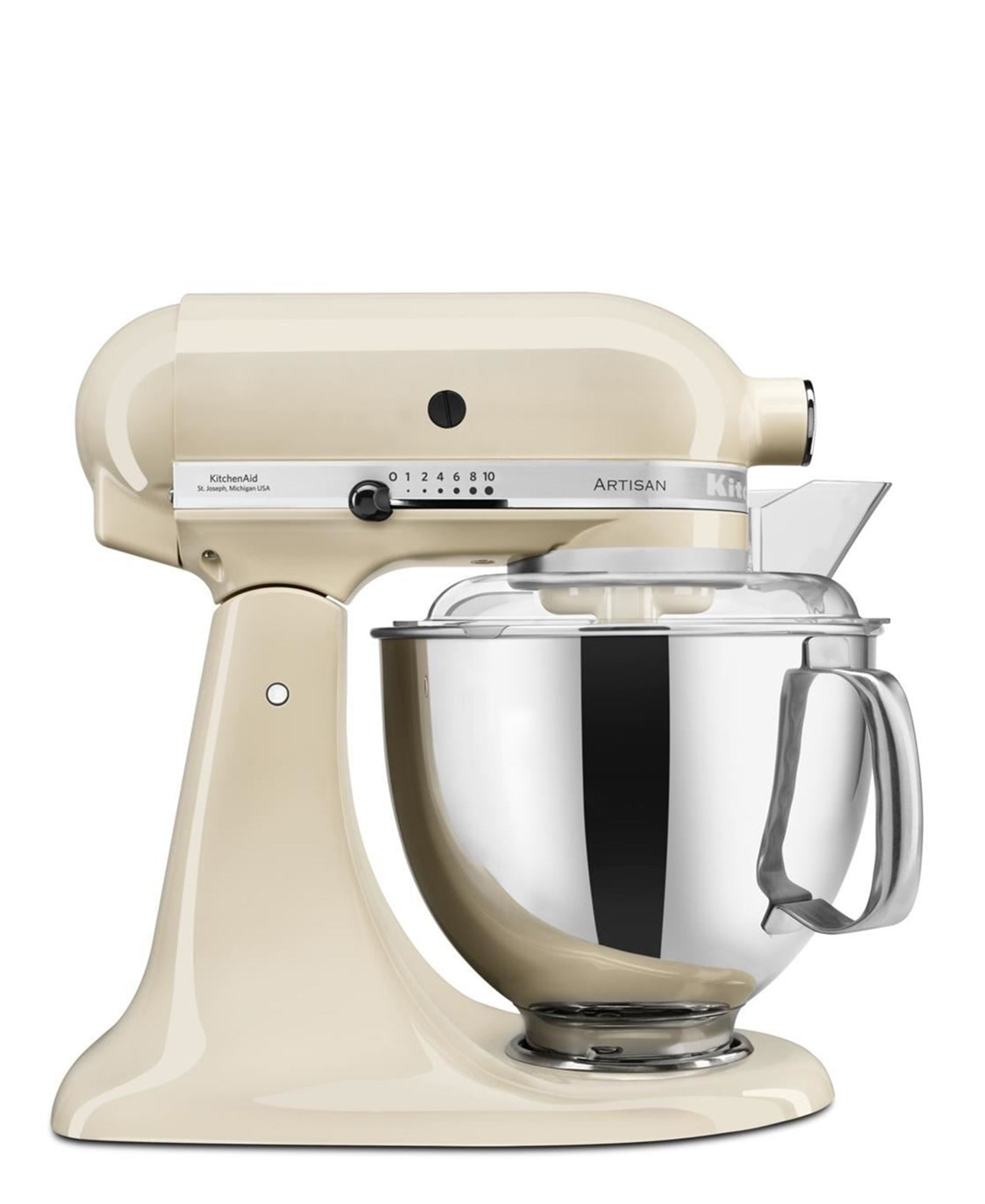 KitchenAid Artisan 4.8L Stand Mixer + Free S/S Bowl - Almond Cream