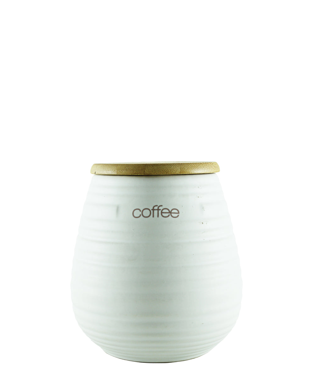 Ciroa Coffee Storage Jar - White