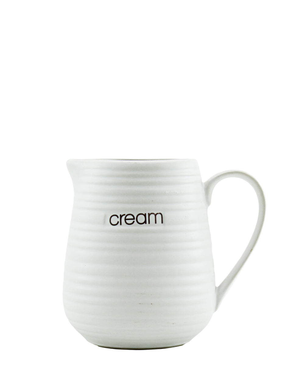 Ciroa Liquid Lines Cream Jug - White