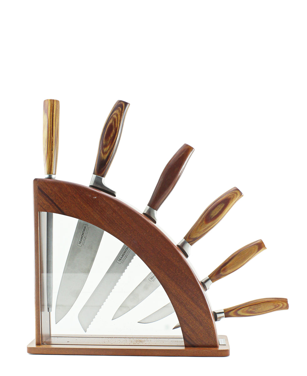 Tramontina Knife Set 7 Piece - Brown