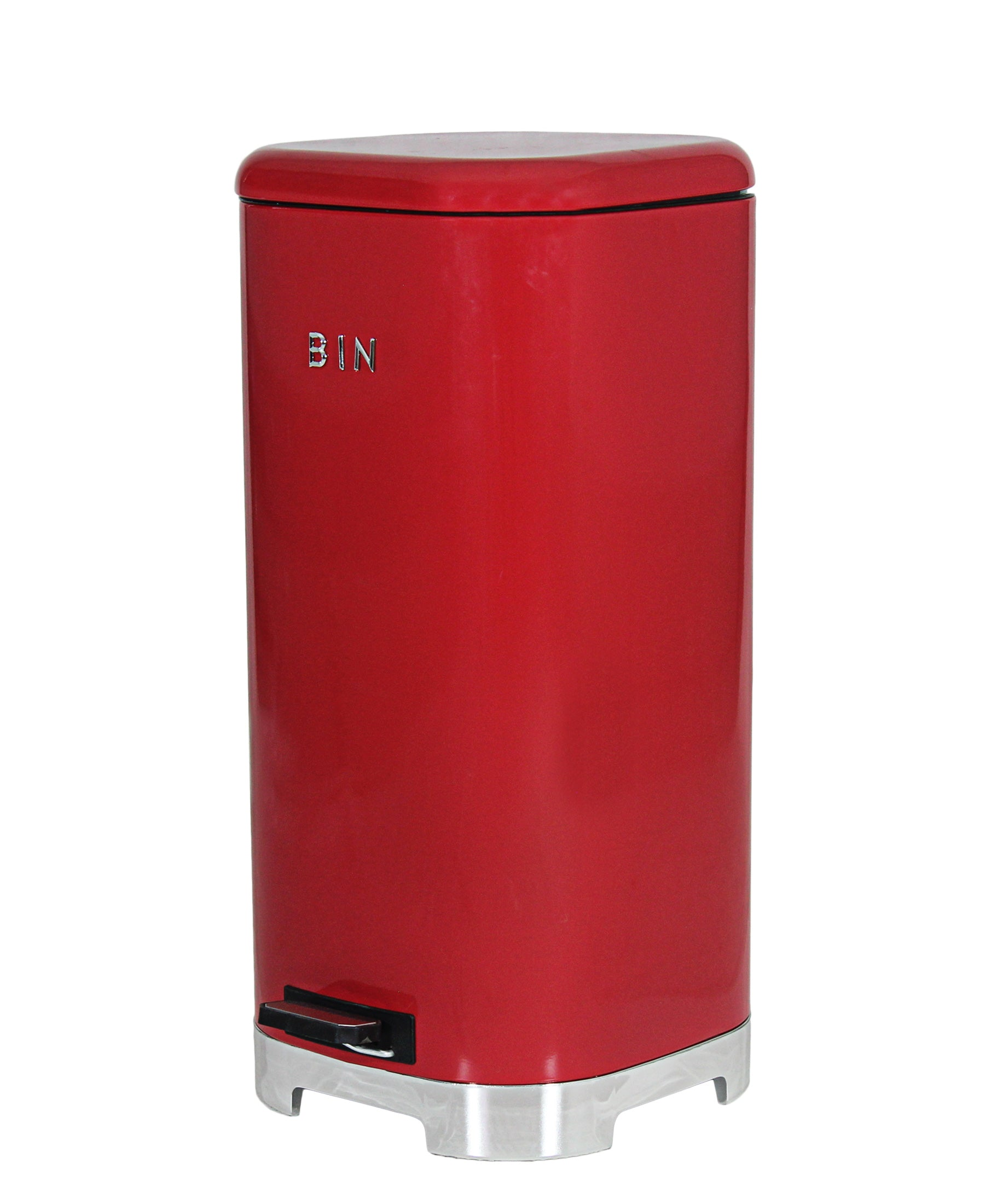 Retro Pedal Dust Bin 30LT - Red