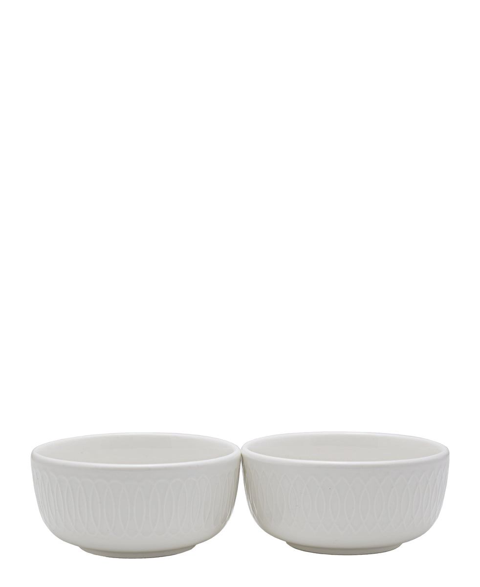 Symphony Spiro Dip Bowl Set Of 2 - White