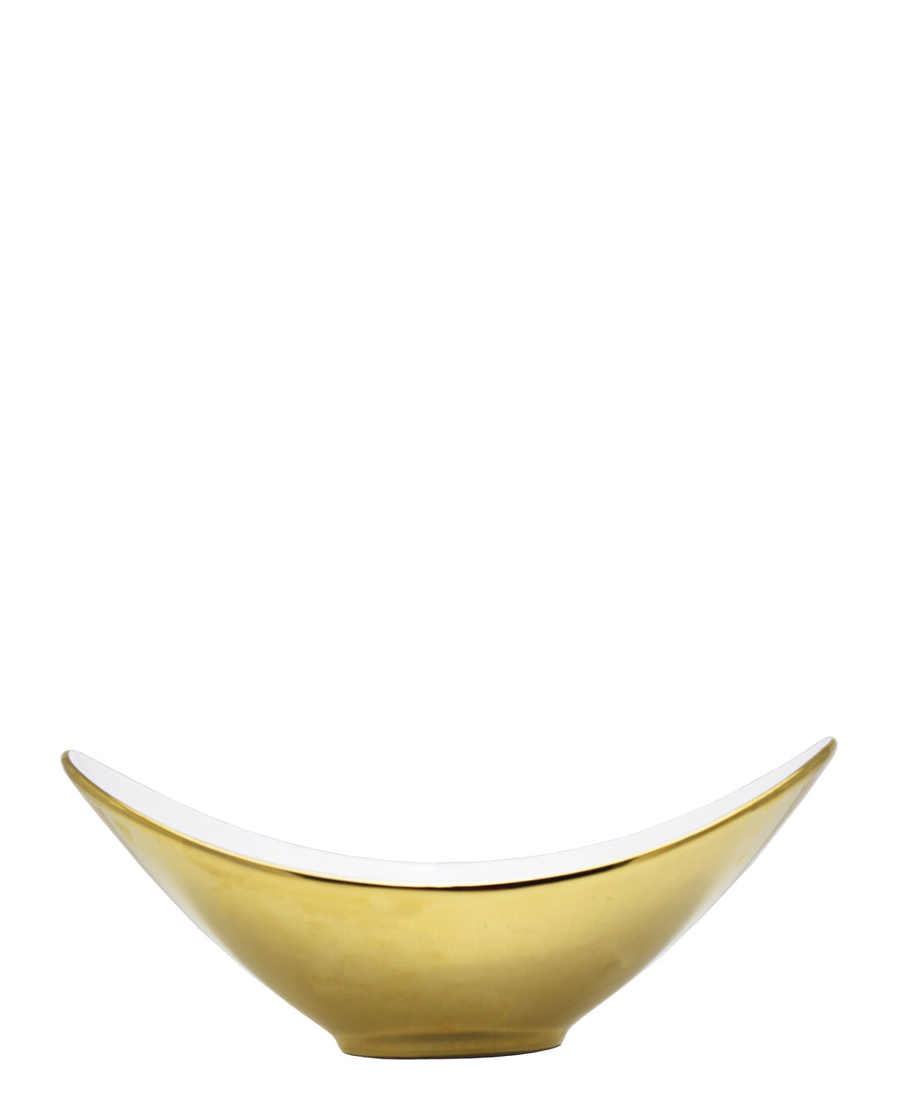 Symphony Adorn Serving Bowl 30cm - White & Gold