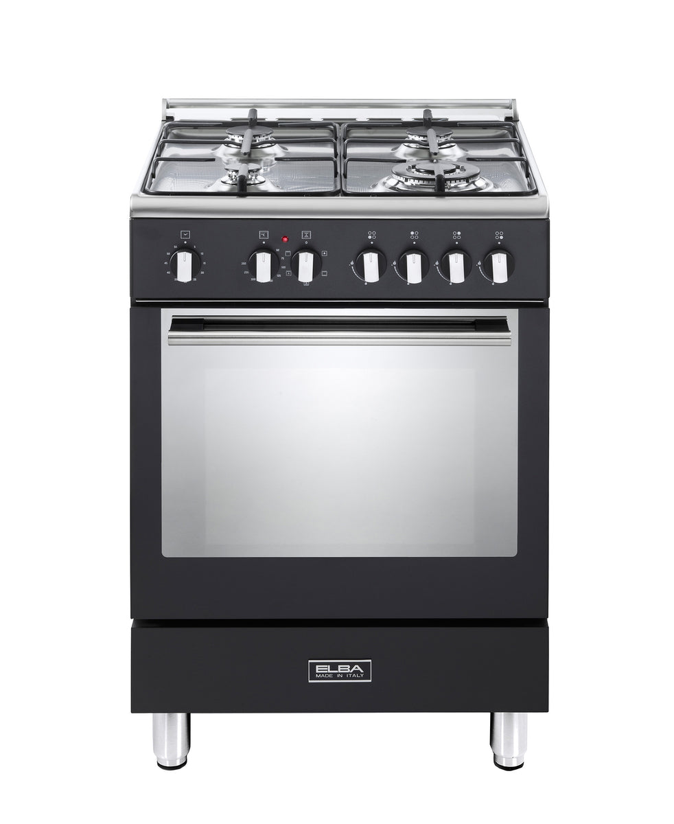 Elba Gas/ Electric Stove Top and Oven 6FX442B Mat Black