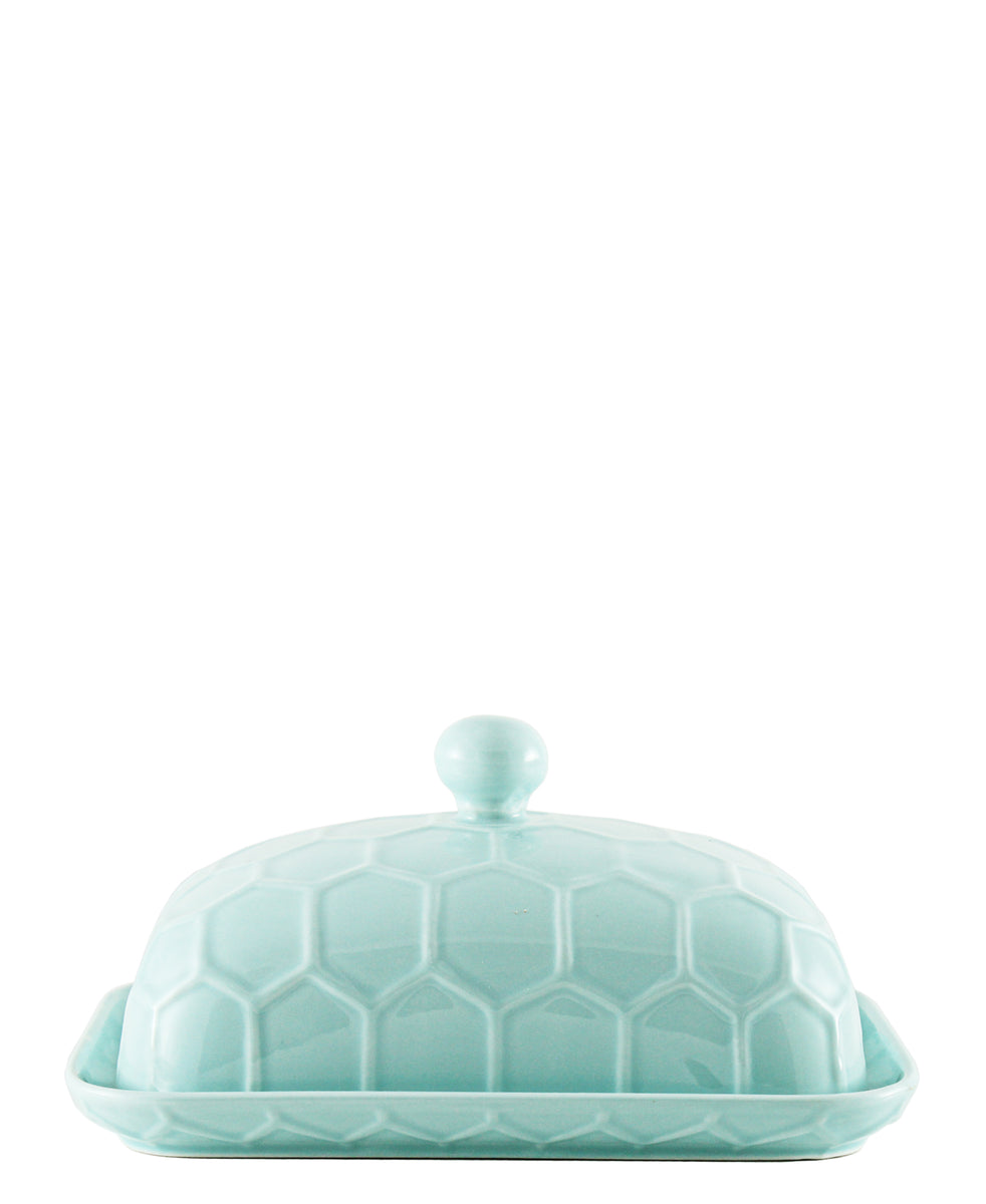Ciroa Honeycomb Butter Dish  - Blue