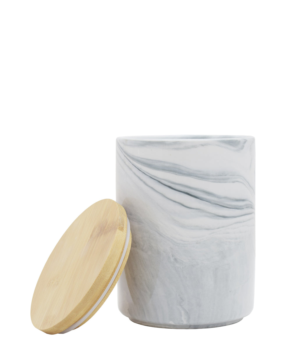 Ciroa Marble Canister White & Grey - Medium