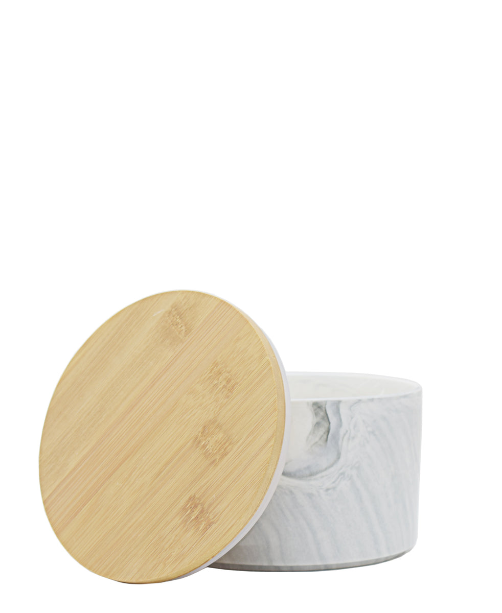Ciroa Marble Canister White & Grey - Small