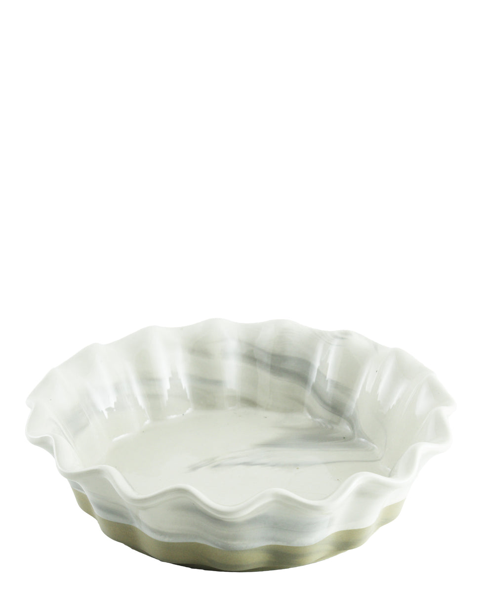 Ciroa Marble Mix Pie Dish - Grey