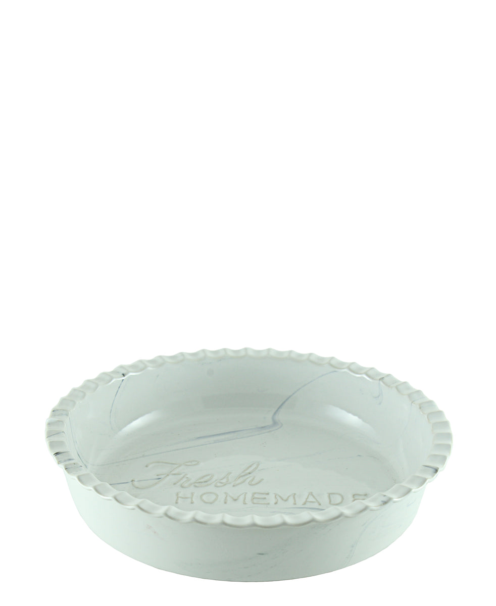 Ciroa Pie Bake Dish White & Blue