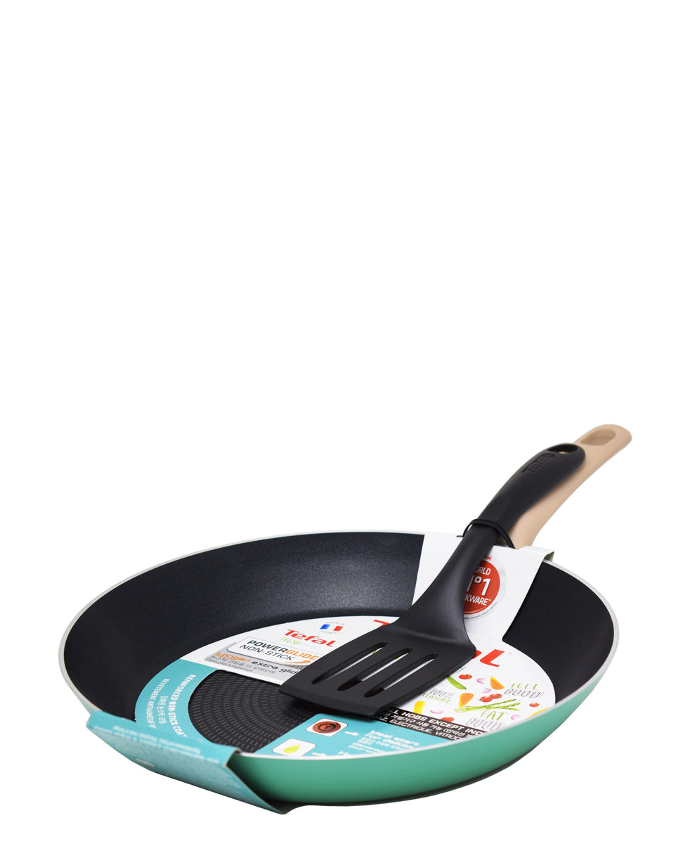 Tefal Hendler & Hart Food Set With Spatula - Black & Blue