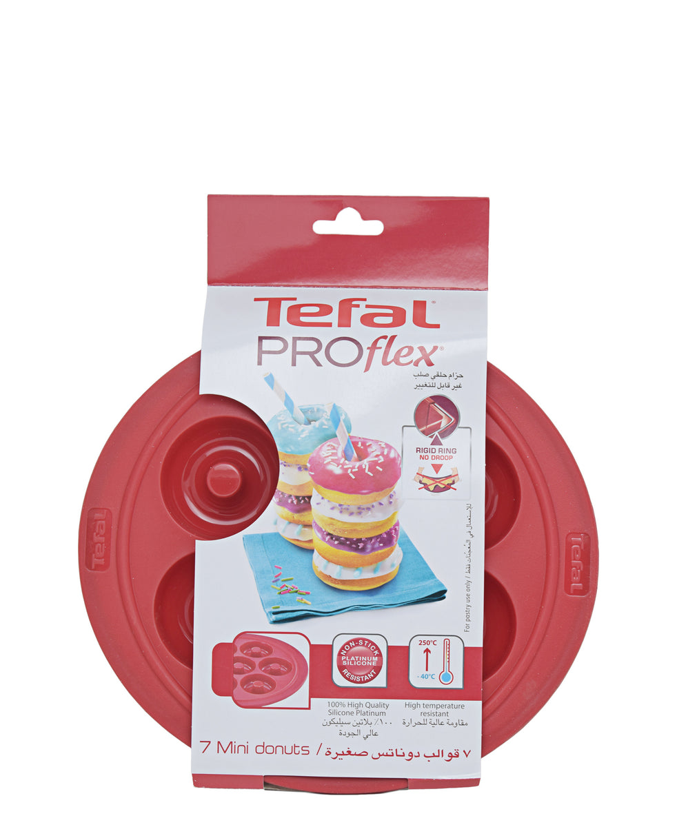 Tefal Proflex Silicone 7 Mini Donuts Bakeware - Red
