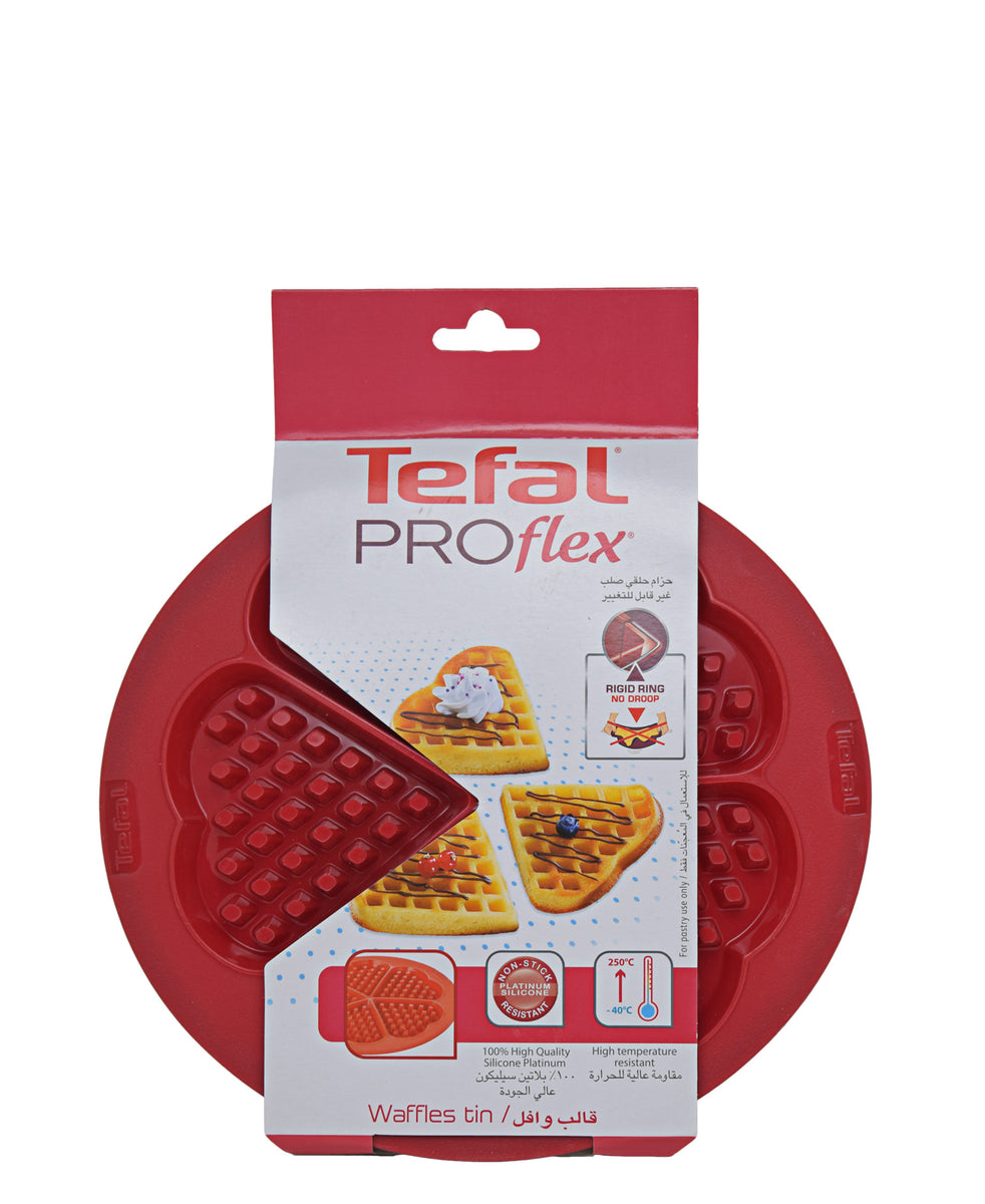 Tefal Proflex Silicone Waffle 5 Hearts - Red