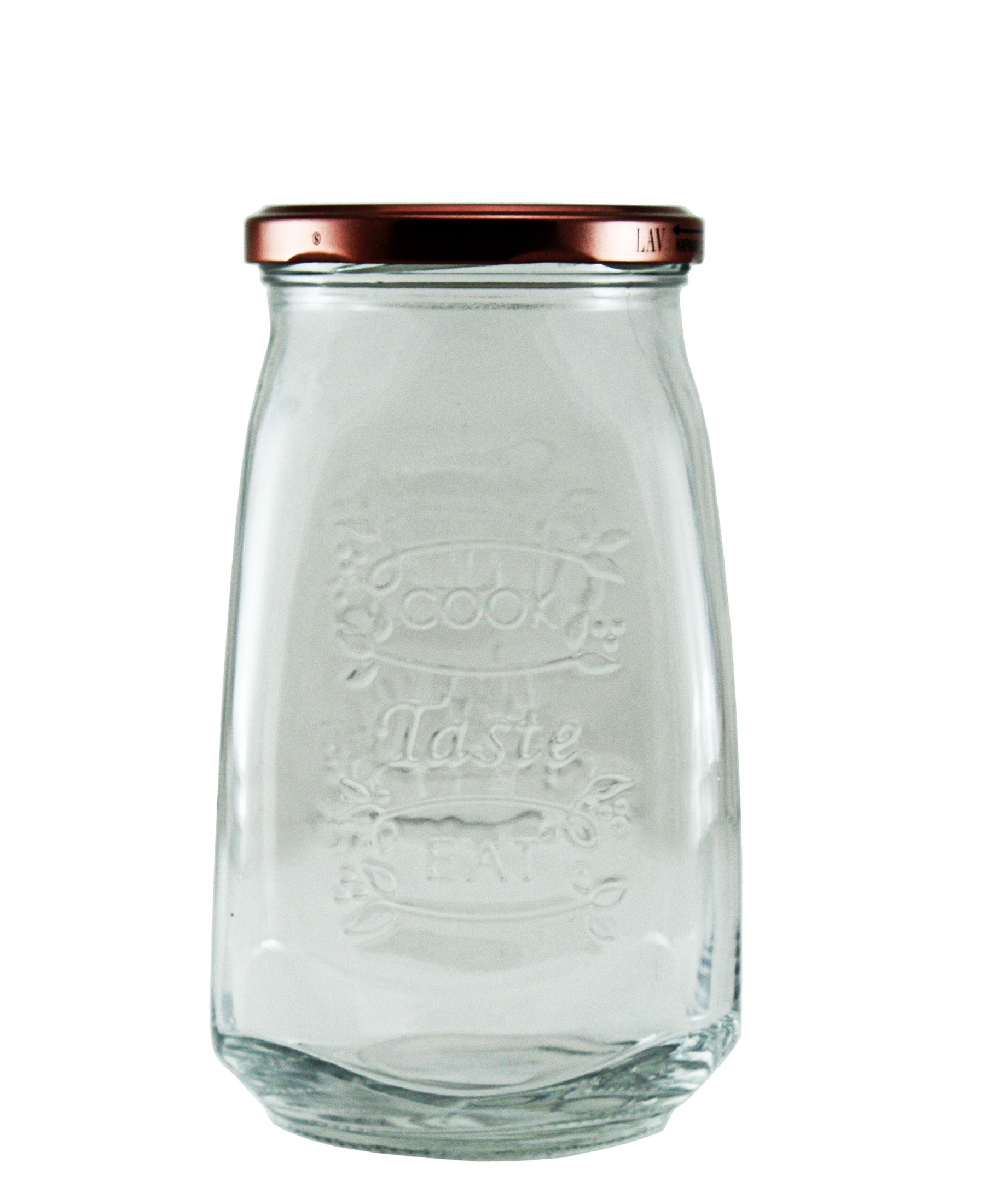 Lucy Cook Taste & Eat Glass Jar - Large