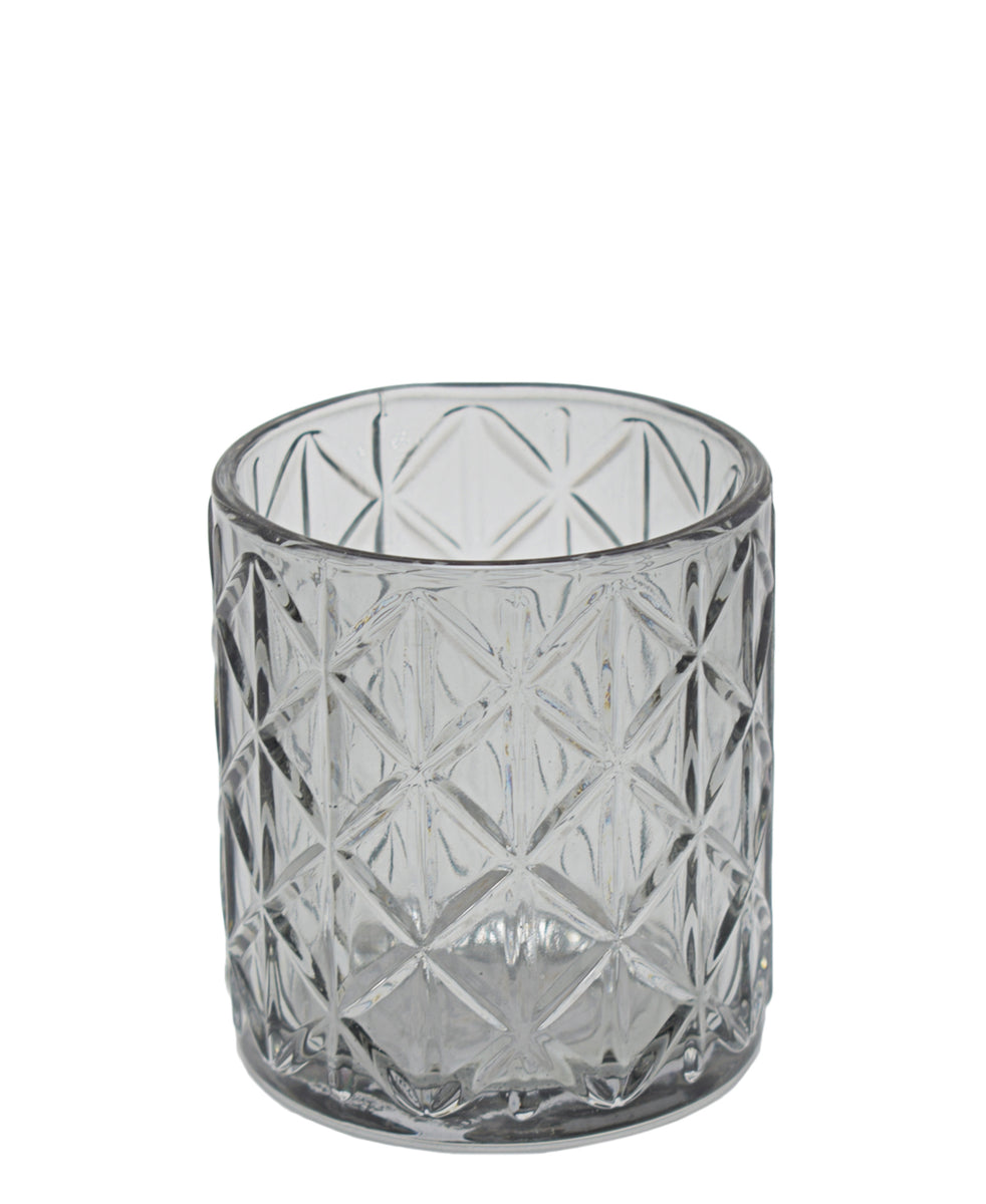 Eetrite Diamond Tumbler 10cm - Smoked Grey