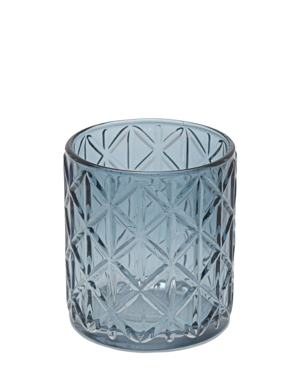Eetrite Diamond Tumbler 10cm - Smoked Blue